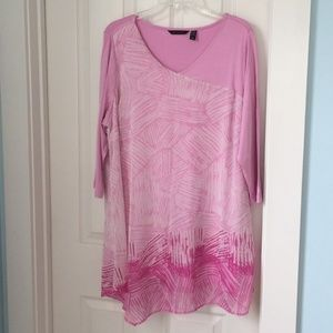 NWOT H by HALSTON PINK TUNIC SIZE 1x